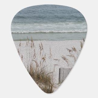 Sea Oats Along the Beach Side Guitar Pick