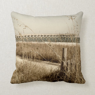Sea Oats on the Dunes at Myrtle Beach Throw Pillow
