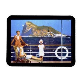 Sea Ocean Cruise Travel to Gibraltar Vintage Magnet
