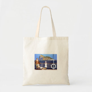 Sea Ocean Cruise Travel to Gibraltar Vintage Tote Bag