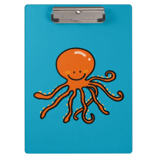 sea ocean cute octopus clipboard
