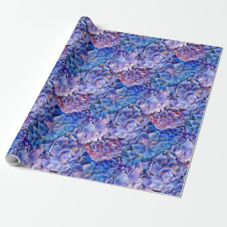 Sea of Blue Hydrangeas Flowers Gift Wrap