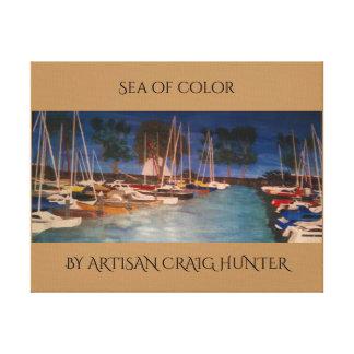 Sea of color canvas print