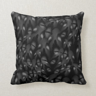 Sea of Faces Throw Pillow