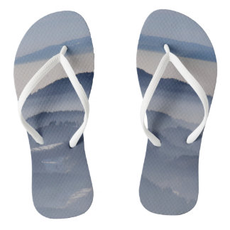 Sea of Foggy Mountains Flip Flops
