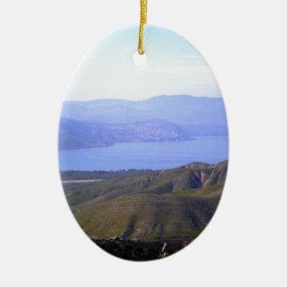Sea of Galilee Ceramic Ornament