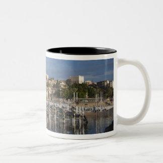 Sea of Galilee-Lake Tiberias waterfront, dawn Two-Tone Coffee Mug