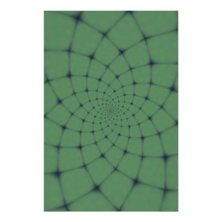 Sea of Green Fractal Poster