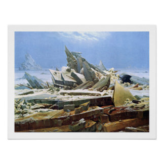 Sea of Ice - Masterpiece Painting by Friedrich Poster