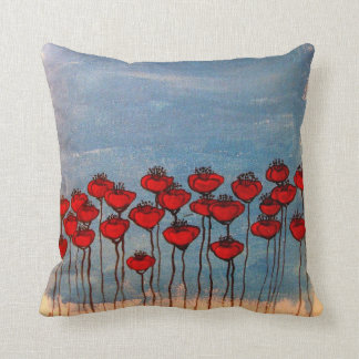 Sea of Poppies Throw Pillow