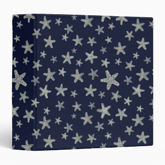 Sea Of Starfish Pattern 3 Ring Binders