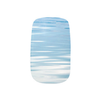 Sea of Tranquility Blue and White Fingernail Decals