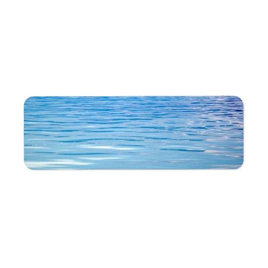 Sea of Tranquillity Background Return Address Label