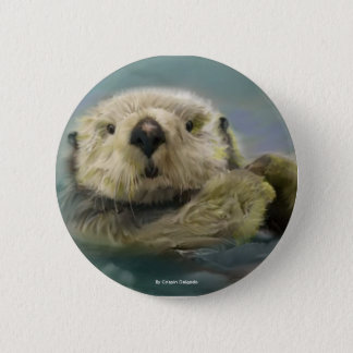 Sea Otter 2 Inch Round Button