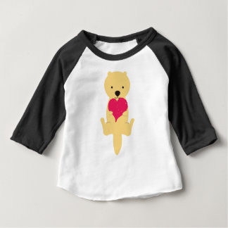 Sea otter and heart baby T-Shirt