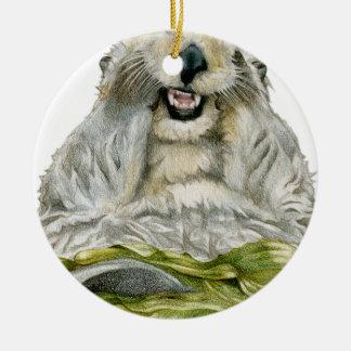 Sea Otter Ceramic Ornament