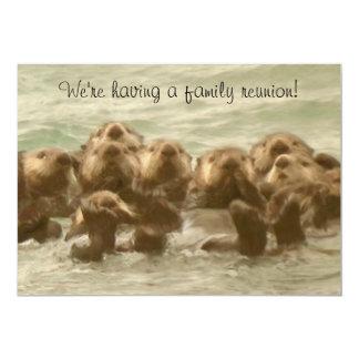 "Sea Otter Family Reunion 5"" X 7"" Invitation Card"
