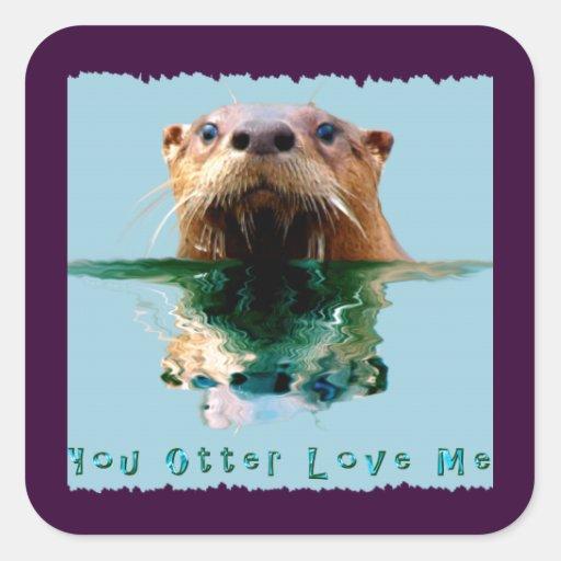 SEA OTTER Funny Wildlife Stickers