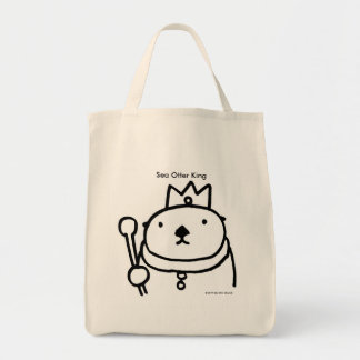 Sea Otter King Tote Bag