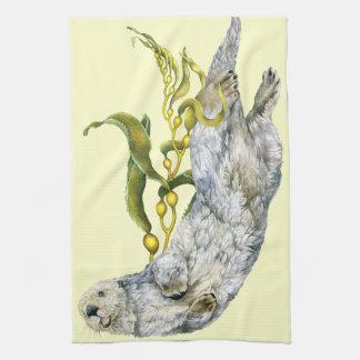 Sea Otter Kitchen Towel