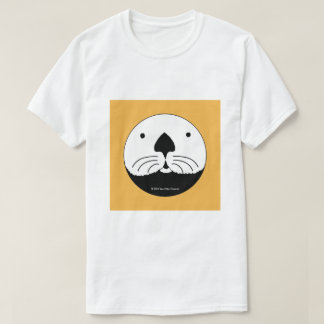 Sea Otter looking out of the round window 2 T-Shirt