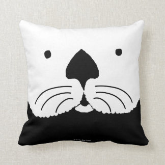 Sea Otter looking out of the window Throw Pillow