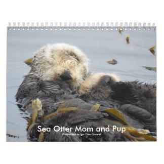 Sea Otter Mom and Pup Calendar #1