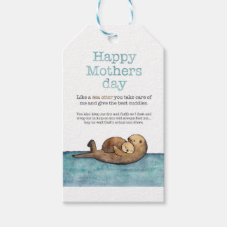 Sea otter mothers day gift tags