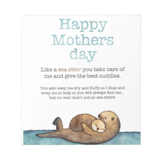 Sea otter mothers day notepad