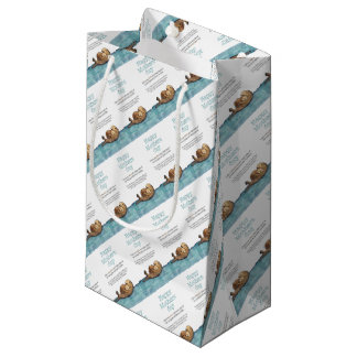 Sea otter mothers day small gift bag