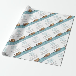 Sea otter mothers day wrapping paper