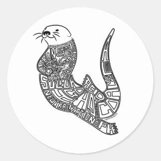 Sea Otter & Ocean Acidification Classic Round Sticker