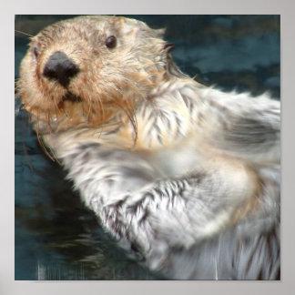Sea Otter Poster Print