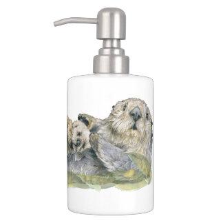 Sea Otter Soap Dispenser And Toothbrush Holder