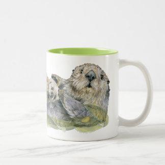 Sea Otter Two-Tone Coffee Mug
