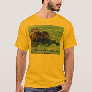 Sea Otter with Pup, Morro Bay, CA  morro-bay.com  T-Shirt