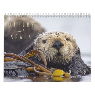 Sea Otters and Seals 2018 Wall Calendar - Wildlife