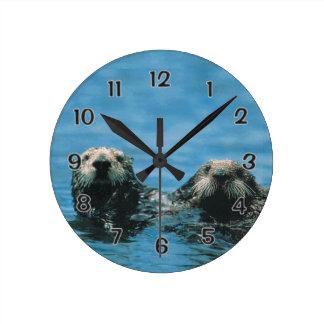 Sea Otters Wallclocks