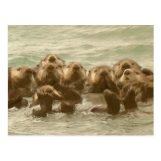 Sea Otters Postcard