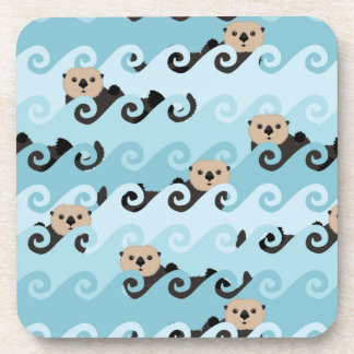 Sea Otters Riding the Waves Coaster