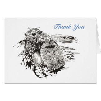 Sea Otters Thank-You Card