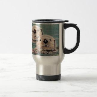 Sea Otters Travel Mug
