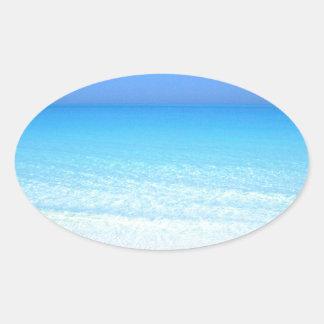 sea oval sticker