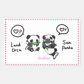 Sea panda + land orca friends sticker