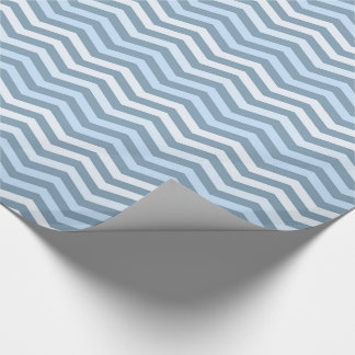Sea (pattern Chevron) Glossy Wrapping Paper