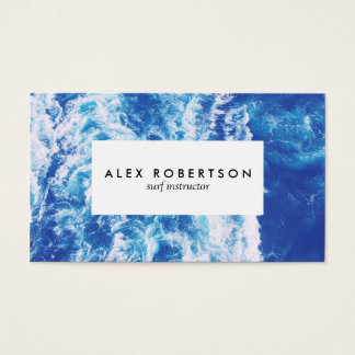 Sea photograph surf instructor business cards