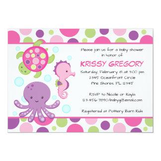 Sea Pink Baby Shower Invitations