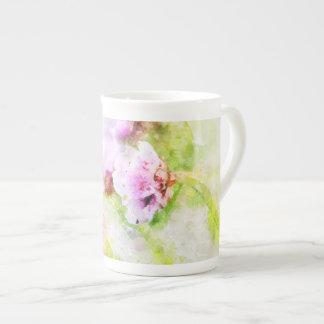 Sea Pink Flower Mug