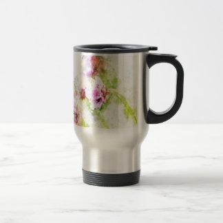 Sea Pink Flower Travel Mug