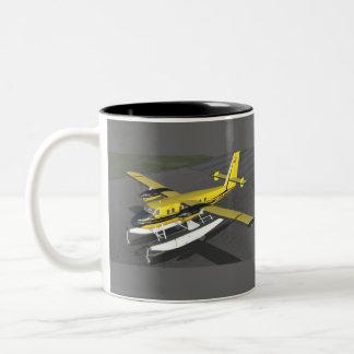 Sea Plane Two-Tone Coffee Mug